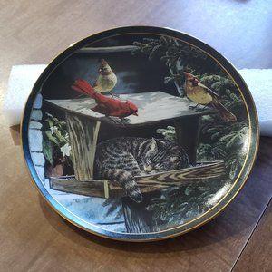 Braford Exhange Wild Wings Cat Nap Plate
